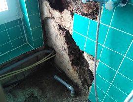 Badezimmersanierung nach Wasserschaden
